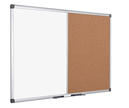 Bi-Office Combination Board Maya, Cork/Magnetic, Aluminium Frame, 180 x 120 cm