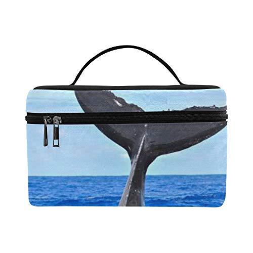 Baleine À Bosse De Plongée Mignon Plongeur Grande Capacité Taille Lady Cosmétique Maquillage Sac Organisateur Trousse De Toilette pour Filles Ados Femmes Voyage avec Zipper Et Poignée Monocouche