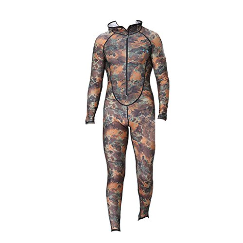 Gazechimp Männer Tarnung / Camouflage Ganzkörper Tauchanzug - XXXL