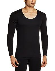 Jockey Mens Cotton Thermal Top (8901326077467_2601-0105-BLACK Black XL)