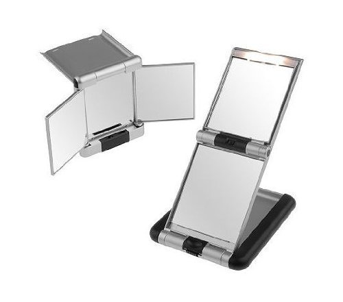 christmas-special-one-touch-compact-mirror-set-w-led-light-3x-magnification-by-dbest-products