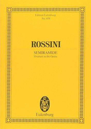 Semiramis: Ouvertüre. Orchester. Studienpartitur. (Eulenburg Studienpartituren)