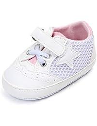YanHoo Bebé niña Zapatos Deportivos Color sólido Estrellas de Malla Zapatos Antideslizantes Zapatos Suaves niños Zapatos