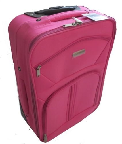 ROSE VALISE FEMME FILLE ROUES CABINE AVION ROULETTE TROLLEY SAC VOYAGE