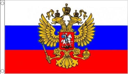 AZ FLAG Flagge Russland MIT Adler 90x60cm - RUSSISCHE Fahne 60 x 90 cm - flaggen Top Qualität