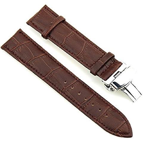 Da polso in pelle Cinturino 24 millimetri del cinturino in acciaio inox Chiusura di distribuzione (Rolex Omega Orologi Omega Watch)