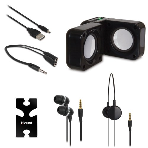 DREAMGEAR ISOUND-isound-1614 5 in 1 Reise Sound - schwarz -
