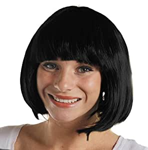ADULTS THICK QUALITY BOB WIG - 20S STYLE PARTY COSPLAY SHORT WIG AVAILABLE IN 12 DIFFERENT COLOURS - BLACK BOB WIG