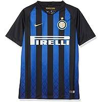Nike 2018/19 Inter Milan Stadium Home - Partes de Arriba de Ropa Deportiva para fútbol (Niño, Camisa, M, Negro, Azul, Estampado, Cuello en V)