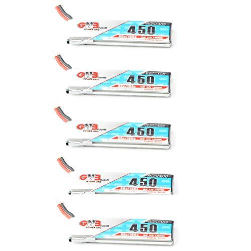 LanLan Accesorios del Drone Batería Gaoneng GNB LiPo 450mAh 80 / 160C 1S 3.7V con Enchufe Blanco PH2.0/51005 para RC FPV Racing Drone