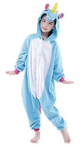 Auspicious beginning Traje de Cosplay del unicornio pijamas Animal Ropa de dormir para niños