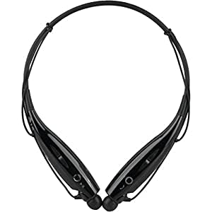 HBS-730 Bluetooth Stereo Headset HBS 730 Wireless Bluetooth Mobile Phone Headphone Earpod Sport Earphone with call functions (Black) for Nokia 130 Dual SIM or any music player, phone etc that supports Bluetooth Headsets