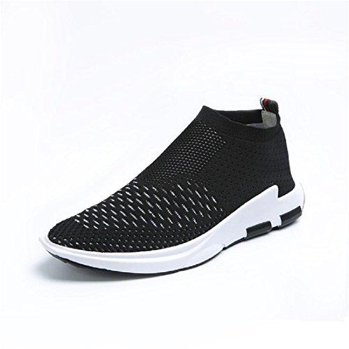Hommes Chaussures de loisirs Respirant élasticité Accueil Chaussures décontractées Chaussures plates Chaussures paresseuses Black