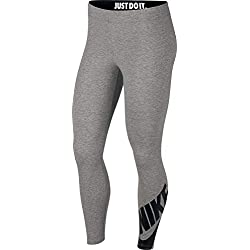Nike W NSW LEGASEE LGGNG 7/8 Futura Pants, Mujer, dk Grey Heather/Black, XL