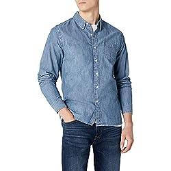 Levi's Sunset 1 Pocket Shirt Camisa Vaquera, Azul (Chambray Indigo 0345), Large para Hombre