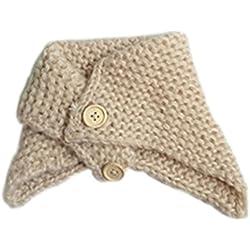 Koly El bebé del invierno de los niños del calentador del cuello de la bufanda del mantón de punto (Beige)