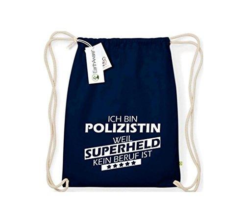Shirtstown Organico Gymsac Ich bin Poliziotta, perché Super eroe niente Occupazione è - rosso, One Size blu