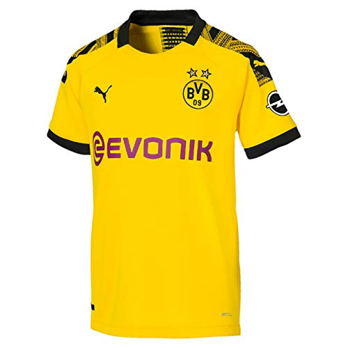 PUMA Jungen BVB Home Shirt Replica Jr Evonik with OPEL Logo Trikot, Cyber Yellow Black, 164 -