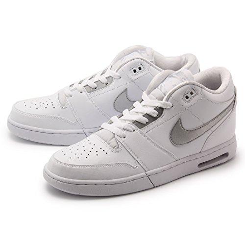 Nike Herren Air Stepback Basketballschuhe Blanco (White / Metallic Silver)