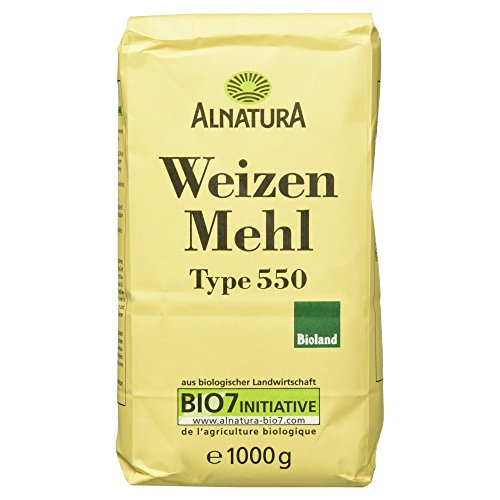 Alnatura Bio Weizenmehl, Type 550, 6er Pack (6 x 1 kg)