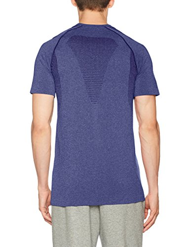 Puma Herren Evoknit Basic Tee T-Shirt Blue Depths Heather