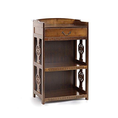 Shelf ZHANGRONG- Retro Bamboo Bücherregal 2/3/4-Tier Antik alte Locker Kreativität mit Schublade Office Free Kombination Bücherregal - Wanddekoration (größe : 53*29*72cm) 72 Bücherregal