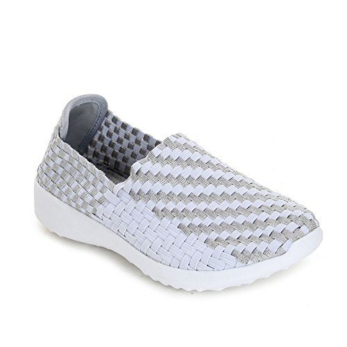 Alesya Sport Scarpe&Scarpe - Slip-On Élastique, Sneakers Blanc