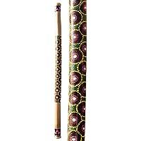 Regenmacher aus Bambus - 150 cm - bemalt - Regenrohr