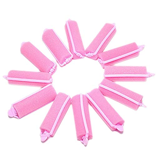 TIANOR Lot DE 12 Rouleaux de Bigoudis en Mousse Eponge Magique Outil de Salon Coiffure Rouleaux pour Cheveux Bouclés 60 * 20 mm de diamètre