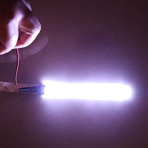 izura (TM) LED tira de luz flexible RGB 3m 6LED 5050Coche Suave tira LED de conducción diurna Niebla lámpara impermeable Shakeproof DC 12V