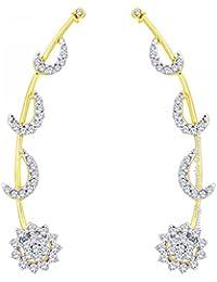 Jewels Galaxy American Diamond Earcuffs