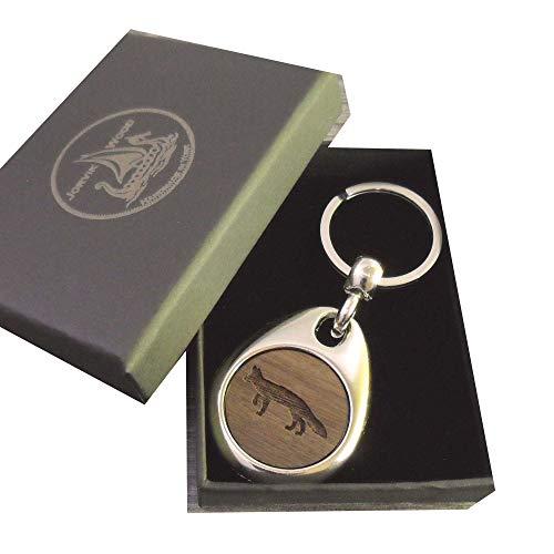 Jorvik Wood Schlüsselanhänger Fuchs aus Holz mit Geschenkbox -
