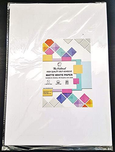 Etiketten für Tintenstrahl- und Laserdrucker, Papier, A4,weiß, matt, selbstklebend, als Adressaufkleber, Mehrzweckaufkleber, 20Blatt