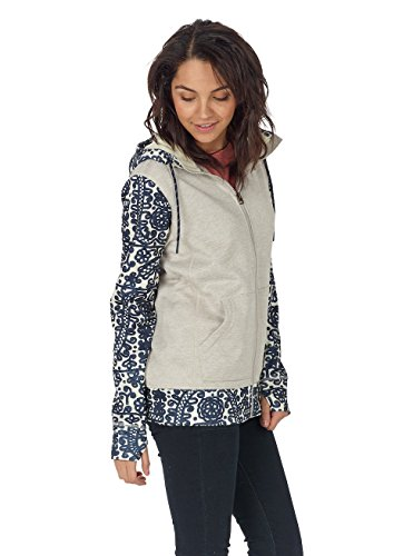 Burton Quartz Full-Zip, Felpa con Cappuccio Donna Dove Heather