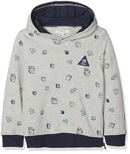 809f79fae3fce Noppies Boy's B Sweater ls Vicq AOP Hoodie, Multicolour (Light Grey Melange  C245)