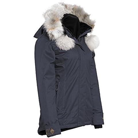 La naturaleza de cuarzo mujeres Anouk Isosoft rwood chaqueta con piel de Coyote - XXLarge/Marina