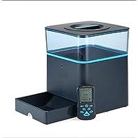 LVRXJP Pet Automatic Feeder Timing Quantitative Double Power Plástico Smart Pet Dispensador de Comida Seca Dish