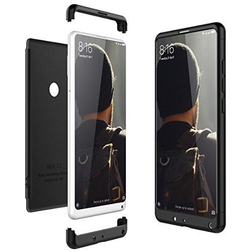 CE-Link für Xiaomi Mi Mix 2S Hülle Hardcase 3 in 1 Handyhülle 360 Ultra Dünn Slim Schutz Hard Schutzhülle Bumper - Schwarz