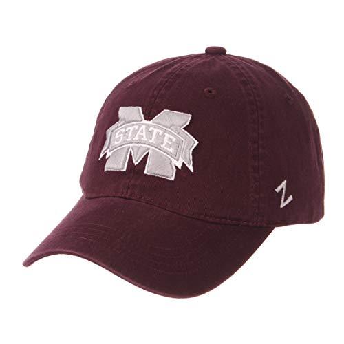 elaxed Fit Dad Hat - NCAA Zephyr Baseballkappe Einheitsgröße verstellbar, Mississippi State Bulldogs ()