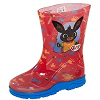 Cbeebies Bing Bunny Boys Wellington Boots Red
