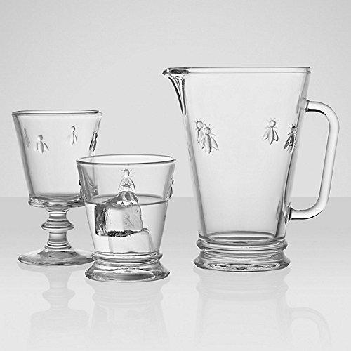 43612101 La Rochere Set of 2 Bee Glass Tumbler Goblet 9floz 270ml