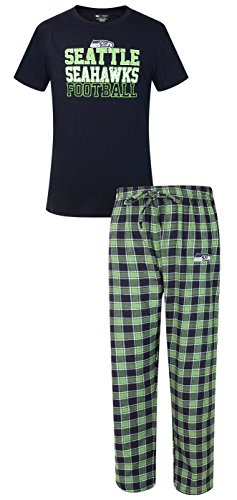 "Seattle Seahawks NFL ""Medalist"" Men's T-shirt & Flannel Pajama Pants Sleep Set"