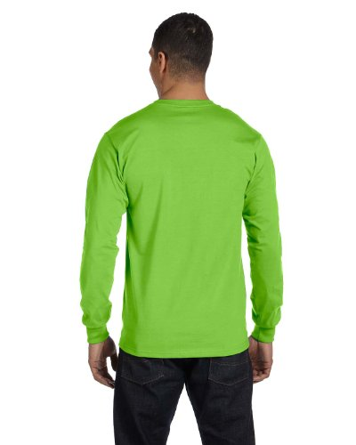 T Sleeve 1 Shirt Tagless Royal 1 Set of Lime Long Deep 2 Hanes Z6w4qRFW