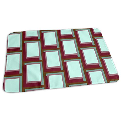 Golden Ratio - Sea Rouge Blocks Baby Portable Reusable Changing Pad Mat 19.7x 27.5 inch