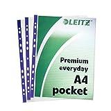 Leitz Premium Sichthüllen, mit seitlicher und oberer Öffnung, DIN A4, 25 Stück, transparent