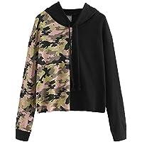 Hanomes Damen pullover, Frauen Tages Casual Camouflage LangarmSweatshirt mit Kapuze Pullover Tops Bluse preisvergleich bei billige-tabletten.eu