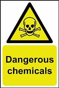Produits chimiques dangereux Panneau en plastique rigide 1 mm 200 x 300 mm