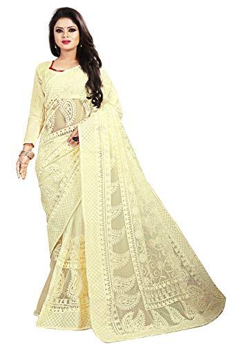 SareeShop Women\'s Net saree for women with Blouse Piece (YamiWhite-SAREESHOP # White)