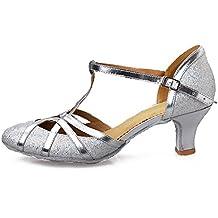 YKXLM Donna & Bambine Paillettes Scarpe da Ballo Latino/Standard Ballroom Sala da Ballo Scarpe,Modello-ITCMJ51
