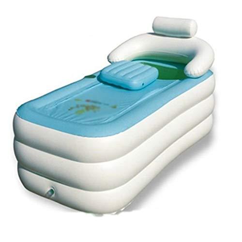 Cxmm Aufblasbare Badewanne blau und weiß für Erwachsene Badewanne zu Hause Bad Kinder Ba